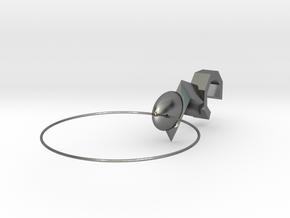 攜帶型扳手吊飾(Portable wrench charm) in Polished Silver: Medium