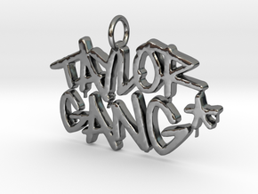 Taylorgang Pendant  in Fine Detail Polished Silver