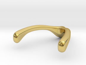 Ring Holder Pendant: Wishbone in Polished Brass: Small