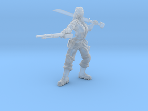 female jungle figter commander  in Smoothest Fine Detail Plastic