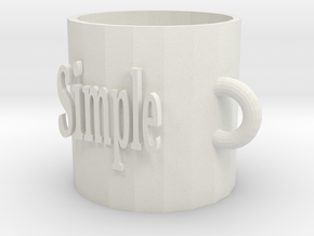 Cup in White Natural Versatile Plastic: Small