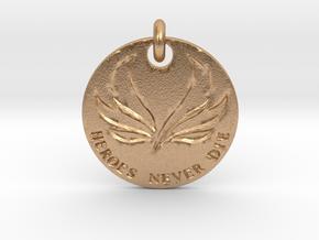 Mercy Valkyrie Pendant  in Natural Bronze (Interlocking Parts)