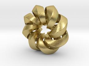 F - Helix in Natural Brass (Interlocking Parts)