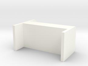 bed in White Processed Versatile Plastic: 1:8