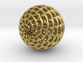 Diamond Sphere in Natural Brass