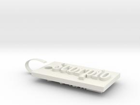 Scorpio Charm in White Natural Versatile Plastic