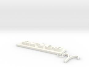 Aries charm in White Processed Versatile Plastic