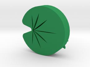 Lotus leaf charm in Green Processed Versatile Plastic