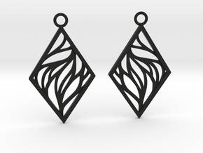 Aethra earrings in Black Natural Versatile Plastic: Medium