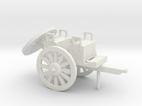 HO ARTILLERY CAISSON in White Natural Versatile Plastic
