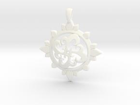 Earth Design Pendant in White Processed Versatile Plastic