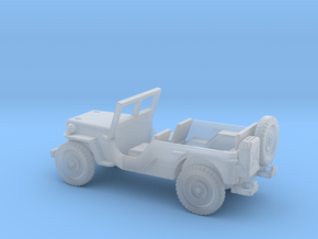 1/144 Scale MB Jeep LWB Assembly in Smooth Fine Detail Plastic