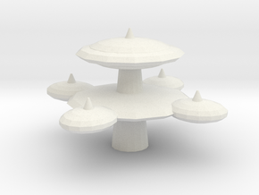 Starbase Two (large) in White Natural Versatile Plastic