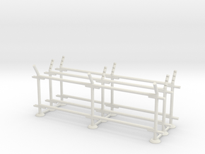 CLSF-8-Straight Section, 2-Bay (3 ea.) in White Natural Versatile Plastic: 1:87 - HO