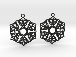 Ornamental earrings no.3 in Black Natural Versatile Plastic