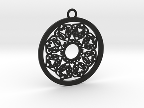 Ornamental pendant no.2 in Black Natural Versatile Plastic