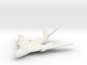 (1:144) Messerschmitt Me P.1101/92 (Mid-wing jet) in White Natural Versatile Plastic