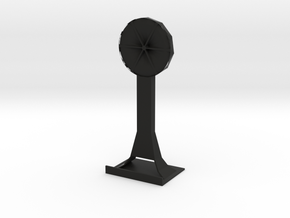 Flower phone holder in Black Natural Versatile Plastic: Medium