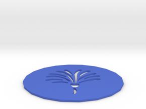 Flower Coaster in Blue Processed Versatile Plastic