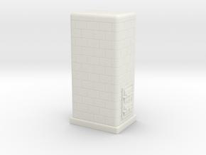 TT Tiled coal-burning stove 1:120 (II) in White Natural Versatile Plastic