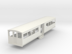 o-87-bermuda-railway-toast-rack-coach in White Natural Versatile Plastic