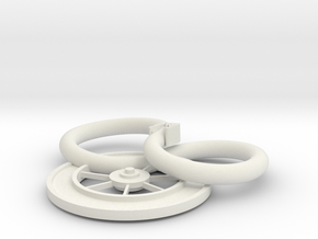 The Snake and The Wheel in White Natural Versatile Plastic