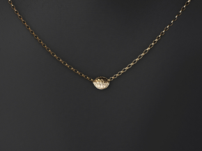 Turtle Shell Pendant in 14k Gold Plated Brass