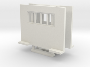 Cab Guard With Window 2 Pack 1-87 HO Scale in White Natural Versatile Plastic