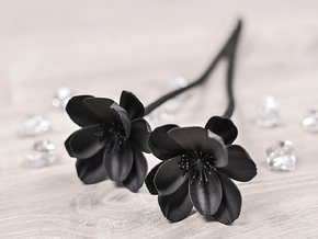 Dark Peony in Black Natural Versatile Plastic