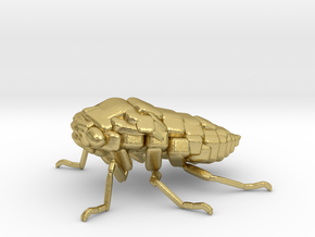 Cicada! The Somewhat Square-ish Sculpture in Natural Brass