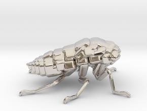 Cicada! The Somewhat Smaller Square-ish Sculpture in Platinum