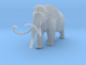 Woolly Mammoth 1:22 Walking Male in Smooth Fine Detail Plastic