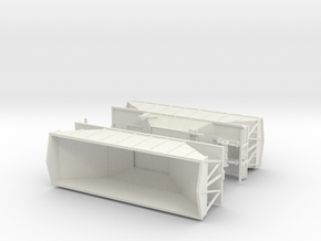 1/50th Wesco type Hopper bottom trailers in White Natural Versatile Plastic