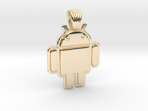 Bugdroid [pendant] in 14k Gold Plated Brass