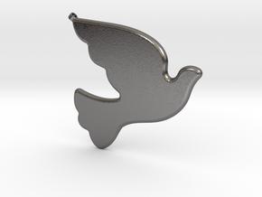 Bird-Dove-01 in Polished Nickel Steel