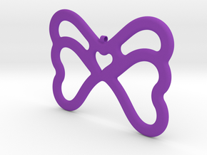 Butterfly Pendant / Necklace-21 in Purple Processed Versatile Plastic