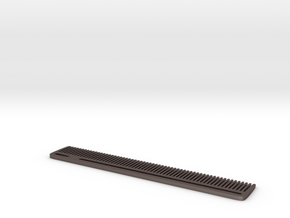 Modern Comb in Polished Bronzed-Silver Steel