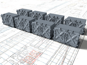 """1/144 Royal Navy 4"""" Ready Use Lockers (Small) x8 in Smoothest Fine Detail Plastic"""