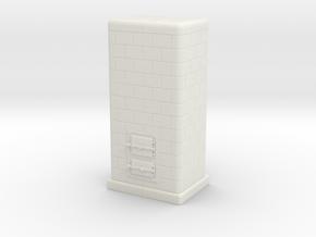 TT Tiled coal-burning stove 1:120 (I) in White Natural Versatile Plastic