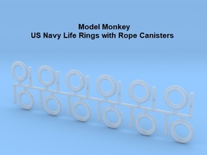 1/50 Life Rings with Rope Canisters in Smooth Fine Detail Plastic