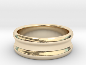 Strecher : Tunnel in 14K Yellow Gold