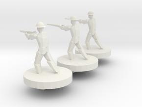 American Soldiers in White Natural Versatile Plastic