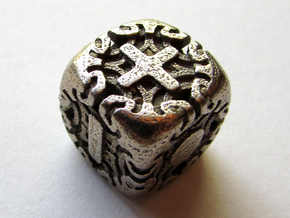 Fudge Art Nouveau d6 in Polished Bronzed Silver Steel