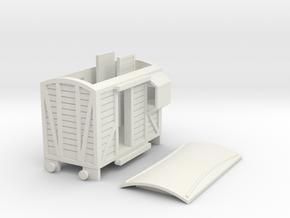 Modern style narrow gauge brake van in White Natural Versatile Plastic