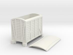 Narrow gauge goods van type2 in White Natural Versatile Plastic