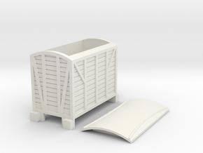 Narrow gauge goods van type1 in White Natural Versatile Plastic