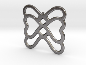 Butterfly Pendant / Necklace-22 in Polished Nickel Steel