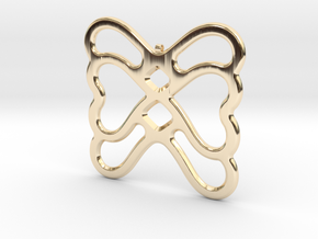 Butterfly Pendant / Necklace-22 in 14K Yellow Gold