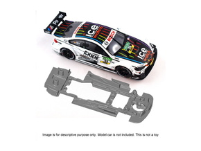 S10-ST3 Chassis for Carrera BMW M4 DTM SSD/LMP in Black Natural Versatile Plastic
