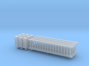 Baluster 01. HO Scale (1:87) in Smooth Fine Detail Plastic